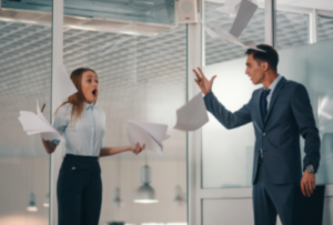 agressief gedrag op het werk
